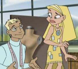Cartoon Sharon and Cartoon Dion